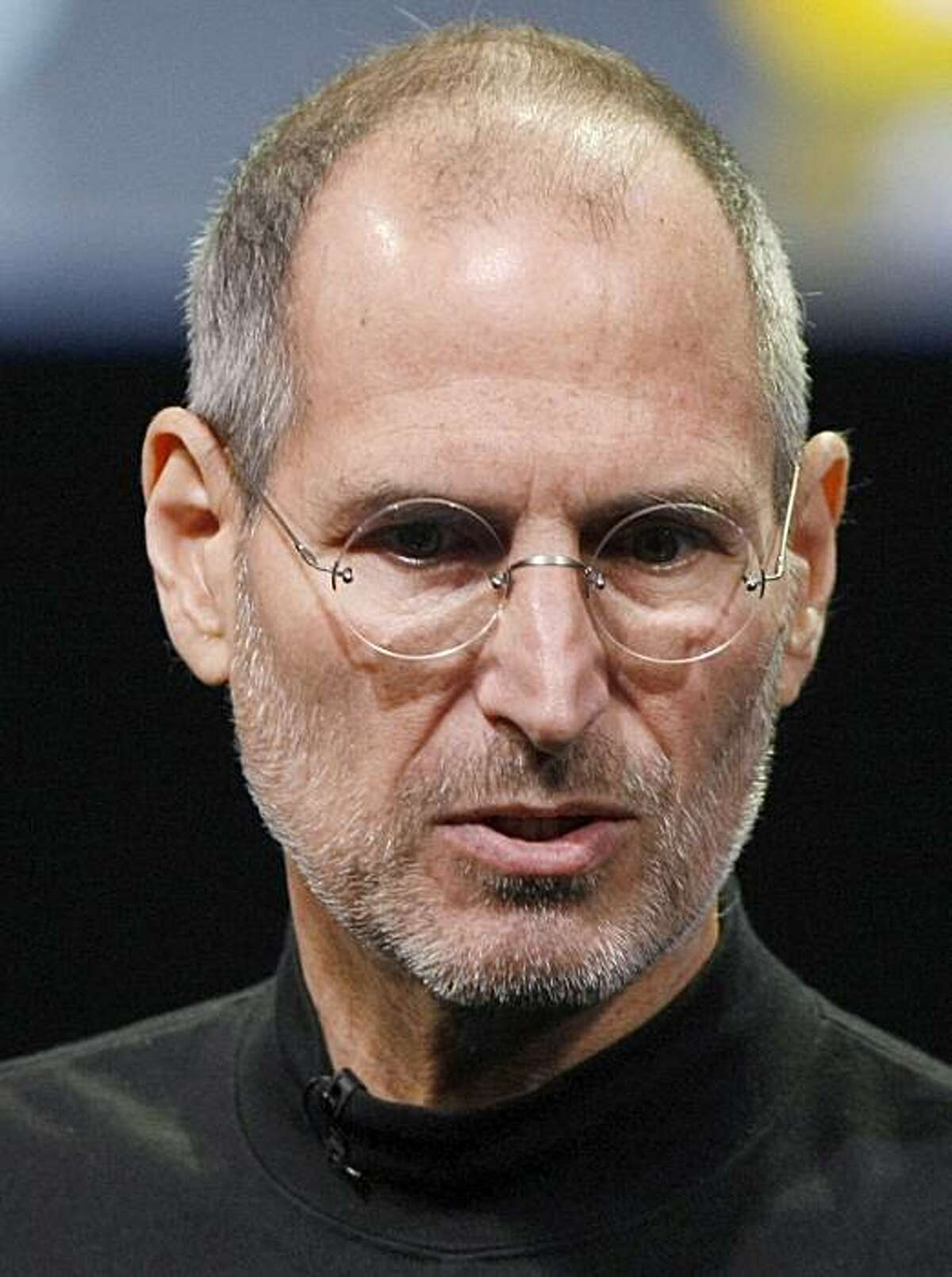 In this photo taken Jan. 27, 2010, Apple CEO Steve Jobs introduces the iPad during an Apple event in San Francisco.