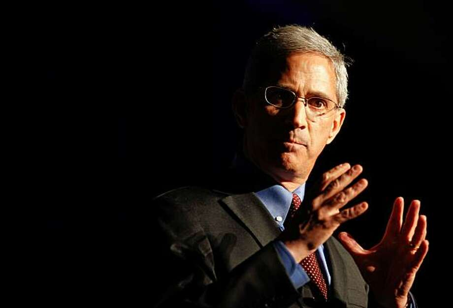 California Gubernatorial candidate Steve Poizner address the gathering during the California Republican Party 2010 Spring Convention in Santa Clara, Calif. on Saturday Mar. 13, 2010. Photo: Michael Macor, The Chronicle