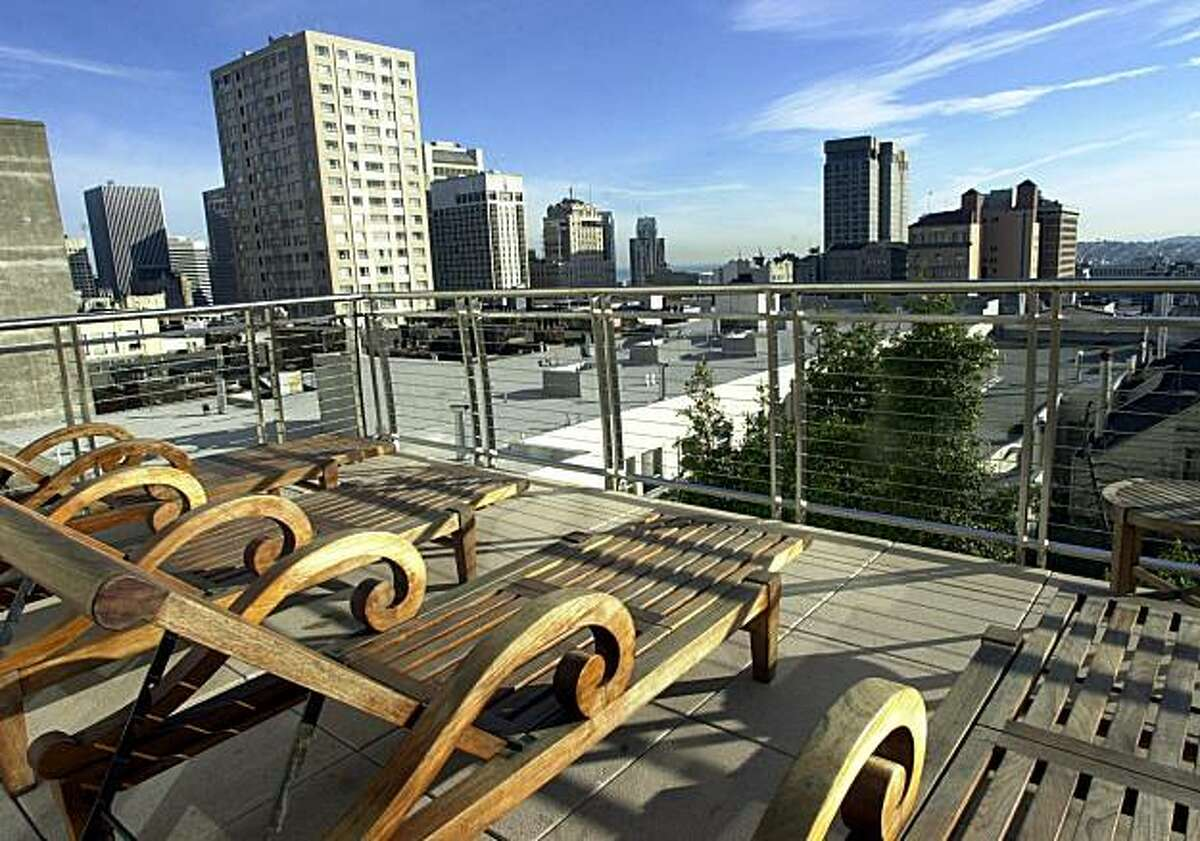 The Huntington Hotel's Nob Hill Spa boasts an expansive view of San Francisco.