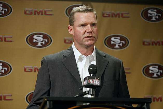 Scott McCloughan  is becoming the General Manager of the team   The San Francisco 49ERS held a press conference to announce that Scott McCloughan  is becoming the General Manager of the team . Coach Mike Nolan will remain the head coach. 49ERS_0018_KR.jpg Kurt Rogers / The Chronicle  Photo taken on 1/2/08, in Santa Clara, CA, USA Photo: Kurt Rogers, The Chronicle