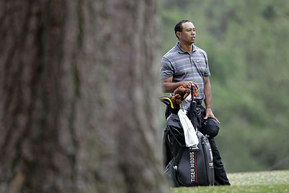 Tiger Woods during the first round of the Masters golf tournament in Augusta, Ga., Thursday, April 8, 2010. Photo: Morry Gash, AP