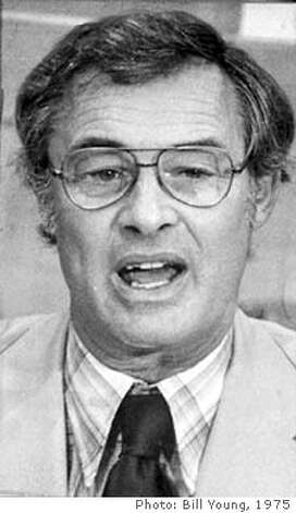 MOSCONE/05NOV75/MN/BY - State Senator George Moscone, in runoff for San Francisco Mayor. Photo by Bill Young Photo: BILL YOUNG