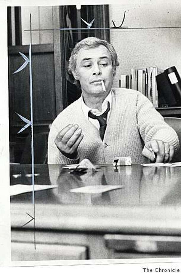 San Francisco Mayor George Moscone plays cards during a city strike in 1976. Photo: The Chronicle
