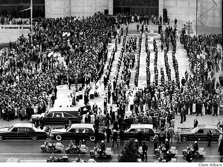 Funeral for Mayor George Moscone at St. Mary's Cathedral. Photo: Clem Albers