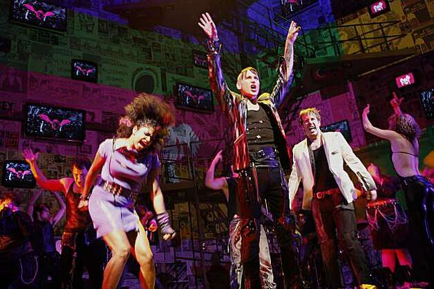 "Rebecca Naomi Jones playing Whatsername,  Tony Vincent  (middle) playing St. Jimmy, and John Gallagher, Jr. (right) as Johnny during the final dress rehearsal for Berkeley Rep's Roda Theatre world premiere of ""American Idiot, "" a new musical adaptation of Green Day's  album of same name, directed by Michael Mayer in Berkeley, Calif., on Thursday, September 3, 2009. Photo: Liz Hafalia, The Chronicle"