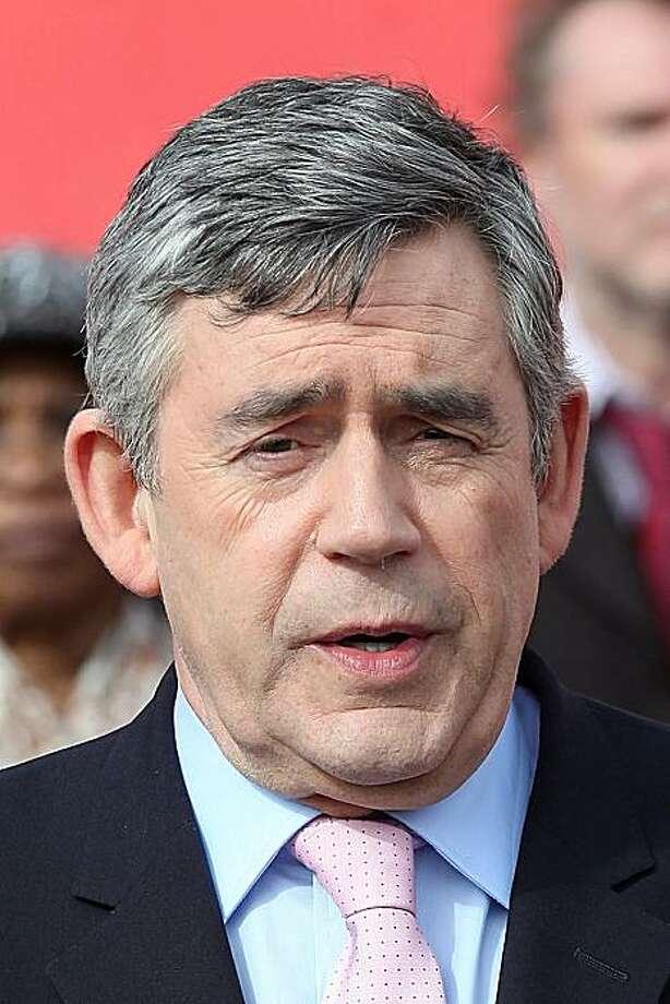Britain's Prime Minister Gordon Brown  in Birmingham, England on Friday, April 30, 2010. Photo: Simon Dawson, AP