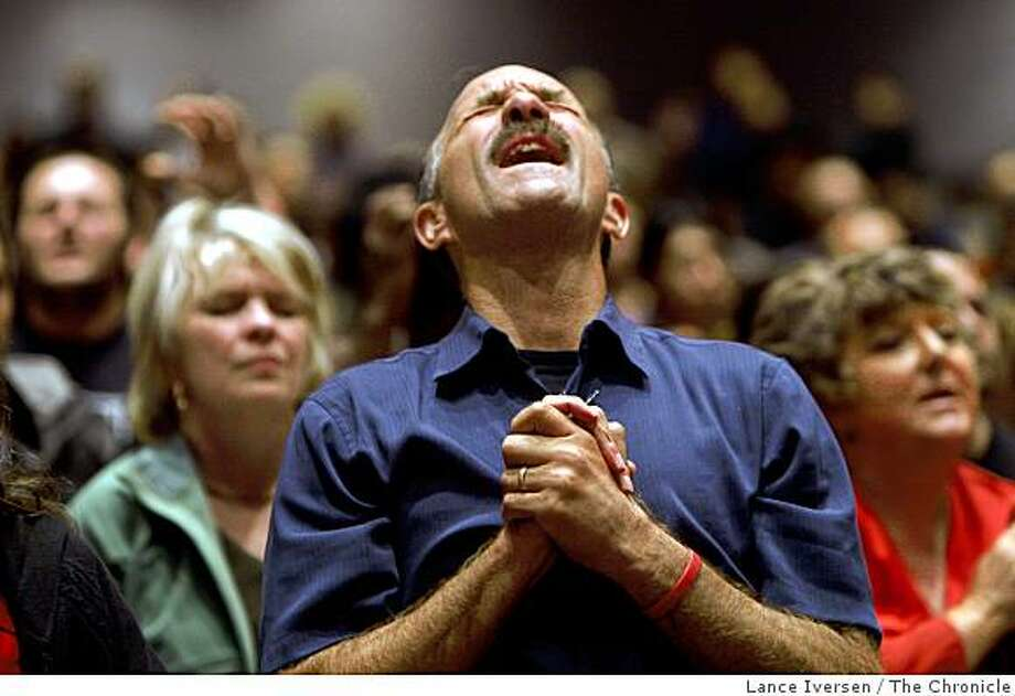 Lou Engle the founder of the Call participates in a rally at the Jubilee Christian Center in San Jose, Calif., on Friday, Oct. 10, 2008. Engle is raising support for Proposition 8 which would end the right of gay and lesbian couples to get married. Photo: Lance Iversen, The Chronicle
