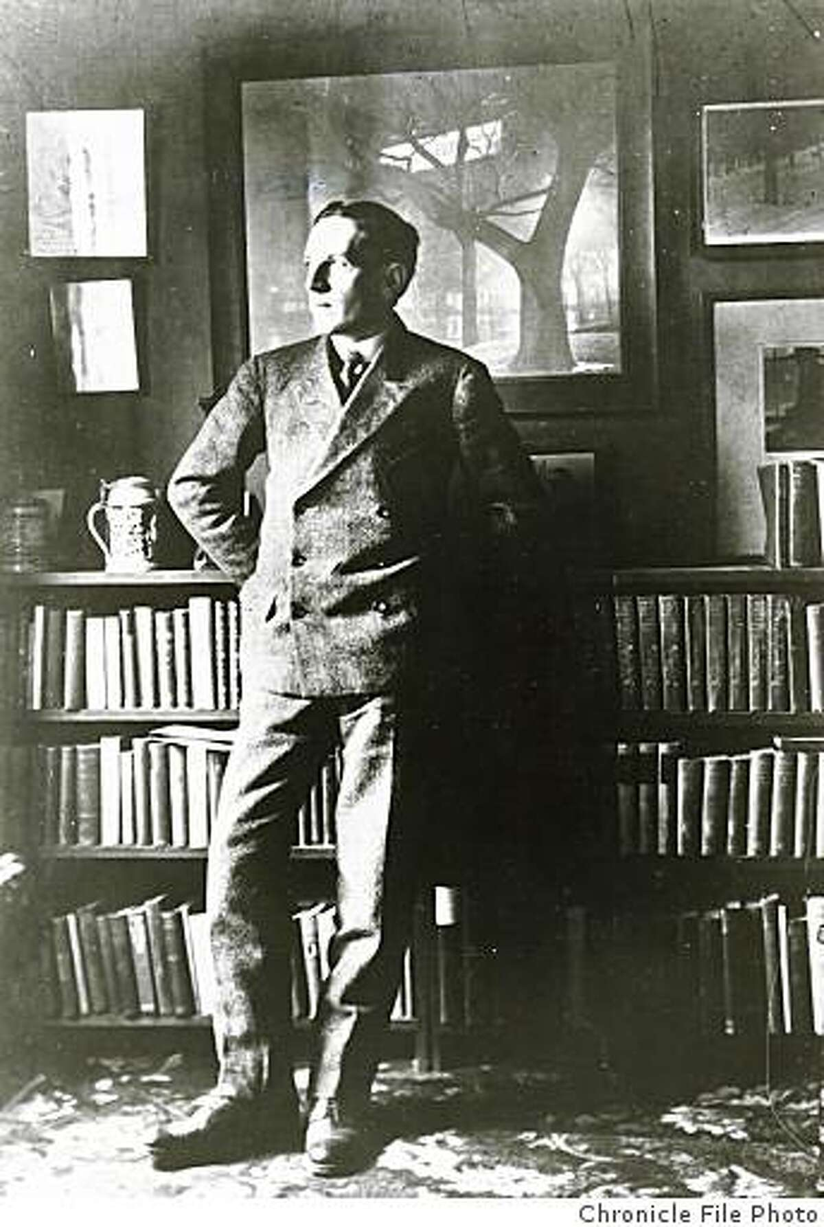 """wayback19_PH.jpg Date unknown - Author Upton Sinclair visited San Francisco in 1908 after writing """"The Jungle.""""Photographer unknown/Chronicle File Photo"""