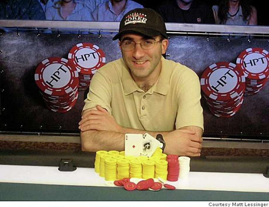 Matt Lessinger of alameda. he works at the Oaks Card Club in Emeryville and his job is to make sure poker games keep going. Photo: Courtesy Matt Lessinger