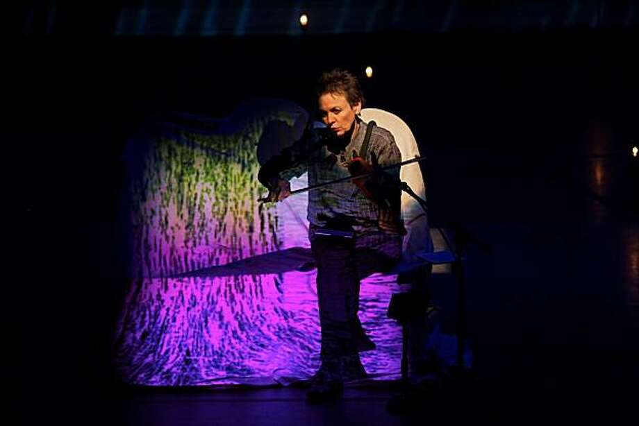 """Laurie Anderson performing in """"Delusion"""" Photo: Leland Brewster"""