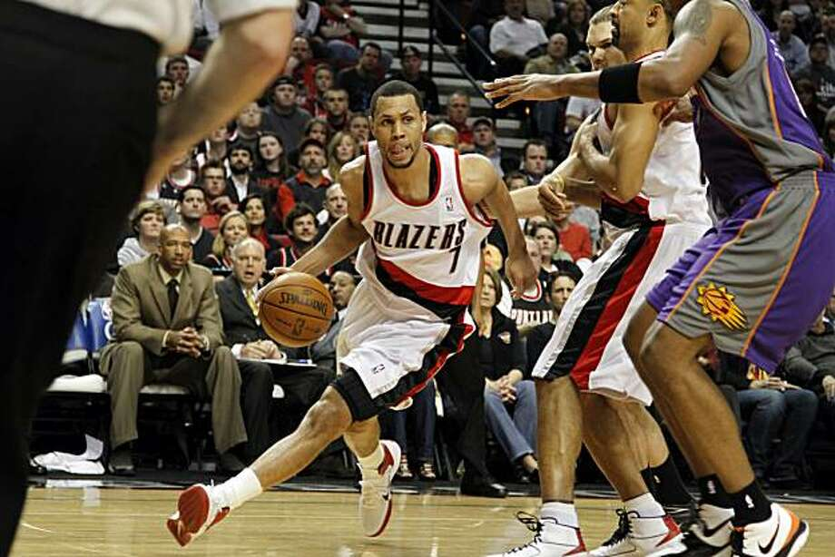 Portland Trail Blazers guard Brandon Roy is shown during the first half of Game 6 in their first round NBA playoff game against the Phoenix Suns in Portland, Ore., Thursday, April 29, 2010. Photo: Don Ryan, AP