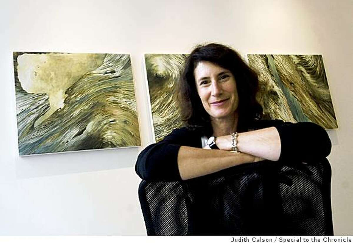 Judith Belzer, landscape painter, is seen on Friday, Oct. 3, 2008 at 49 Geary in the Room For Painting Room For Paper gallery where her new show, The Inner Life of Trees: Recent Paintings, is exhibited.