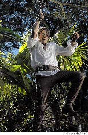 "In this image released by NBC, Philip Winchester stars as Robinson Crusoe in the NBC TV series, ""Crusoe,"" inspired by the exploits of the castaway hero of Daniel Defoe's classic novel. Photo: Kelly Walsh, NBC"