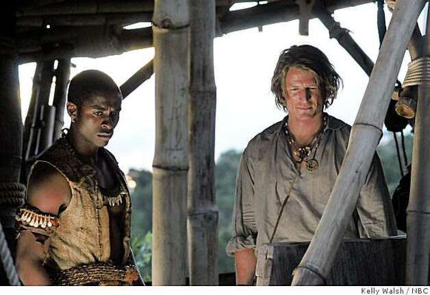"In this image released by NBC, Tonagayi Chirisa, left, and Philip Winchester are shown in a scene from ""Crusoe,"" premiering Friday, Oct. 17, 2008, at 8:00 p.m. EDT. Photo: Kelly Walsh, NBC"