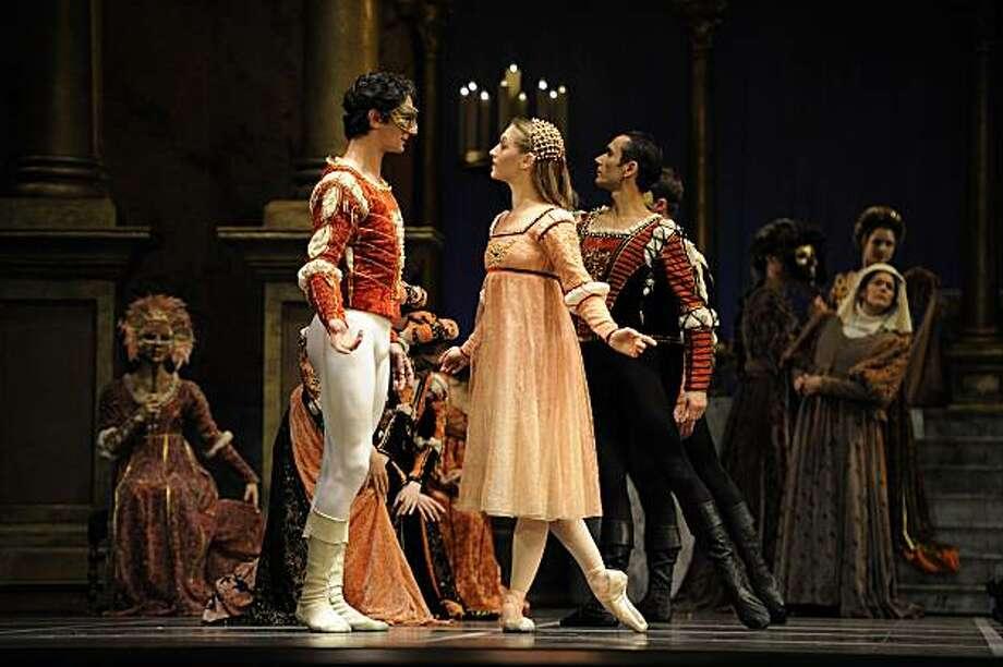 Sarah Van Patten and Pierre-Fran?ois Vilanoba in Tomasson's Romeo & Juliet. Photo: Erik Tomasson