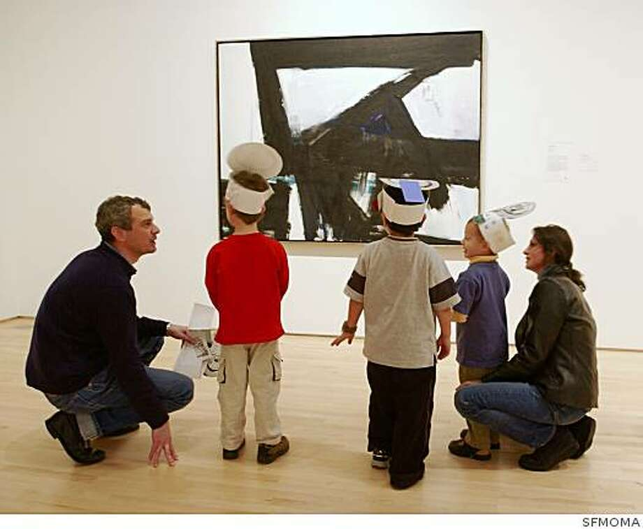 A family takes part in Family Day at the Francisco Museum of Modern Art . Photo was taken in 2005. No IDs available Photo: SFMOMA