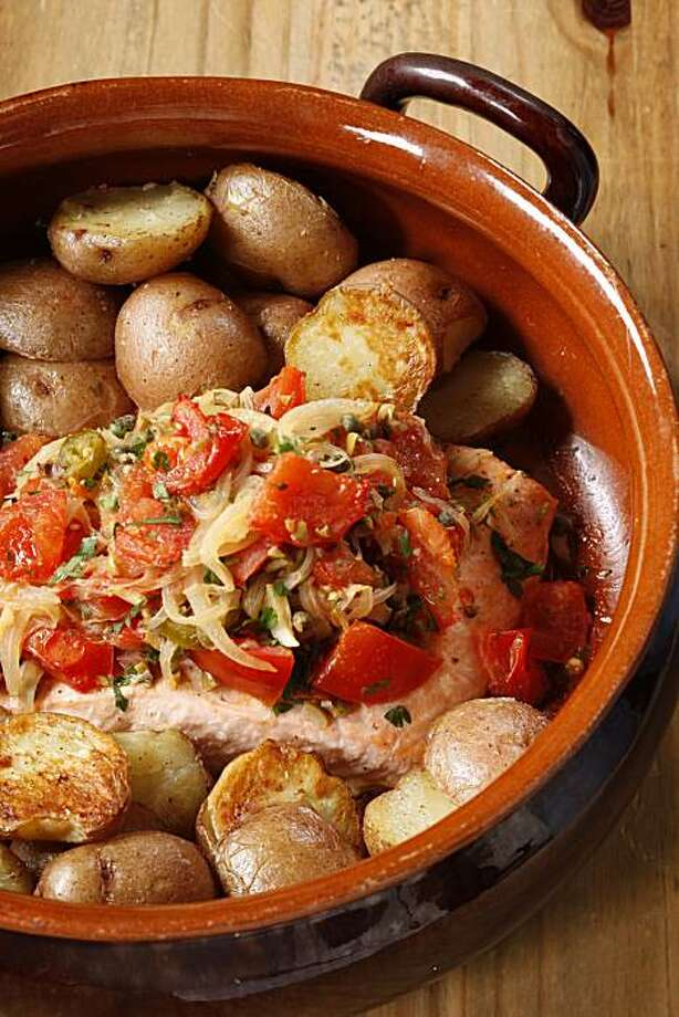 Salmon Veracruz-Style in San Francisco, Calif., on April 28, 2010. Food styled by Lynne Bennett. Photo: Craig Lee, Special To The Chronicle