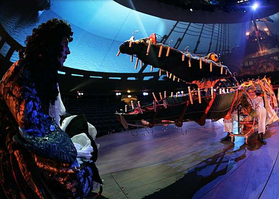 "The crocodile in the new production of ""Peter Pan"" is created entirely from items that children might have found in a Victorian nursery Photo: Simon Amand, Courtesy SHN Theaters"
