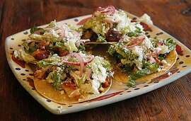 A platter of Jacqueline Higuera McMahan's Cinco de Mayo tostadas for South to North column.