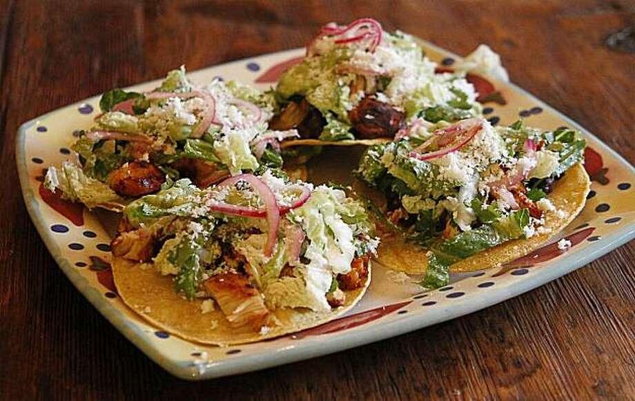 A platter of Jacqueline Higuera McMahan's Cinco de Mayo tostadas for South to North column. Photo: Robert McMahan