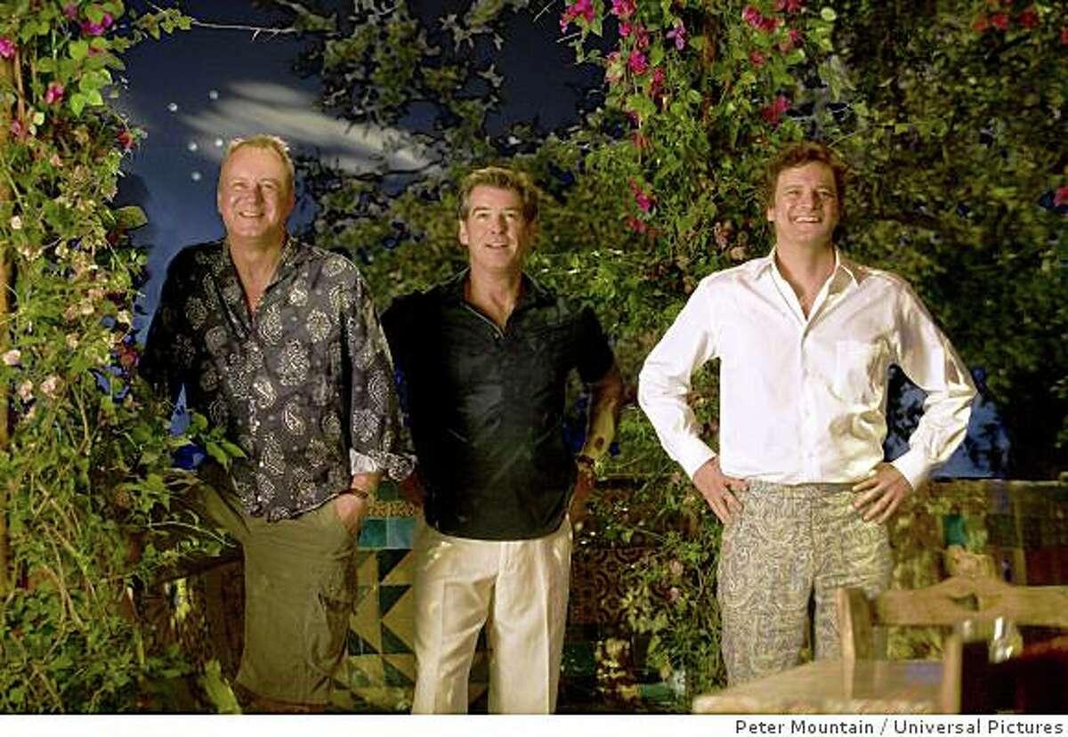 (L to R) Bill Anderson (STELLAN SKARSG�RD), Sam Carmichael (PIERCE BROSNAN) and Harry Bright (COLIN FIRTH) in the musical romantic comedy Mamma Mia! Credit: Peter Mountain
