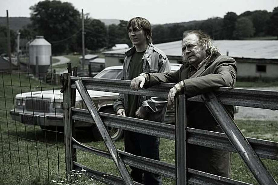 Paul Dano and Brian Cox in THE GOOD HEART, a Magnolia Pictures release. Photo: Magnolia Pictures