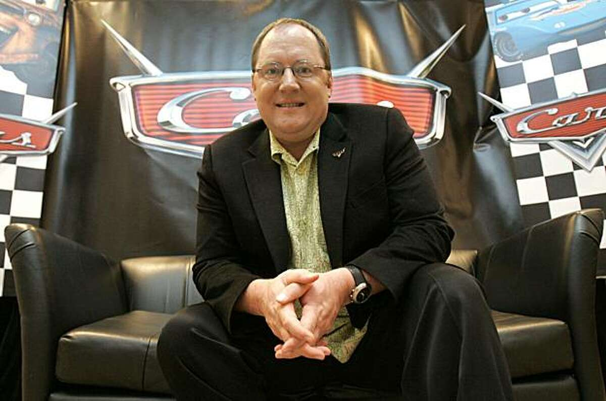 """Director John Lasseter poses before the screening of Pixar's new animation """"Cars"""" during the ShoWest theater owners convention at Paris hotel-casino in Las Vegas on Tuesday, March 14, 2006. The director of the """"Toy Story"""" movies and """"A Bug's Life"""" and a prime creator behind """"Monsters, Inc."""", """"Finding Nemo"""" and """"The Incredibles,"""" Lasseter returns with """"Cars,"""" the animated story of a haughty race car that gets a lesson on life in the slow lane. (AP Photo/Jae C. Hong) Ran on: 11-04-2006 Director John Lasseter includes home videos of an inspiring road trip"""