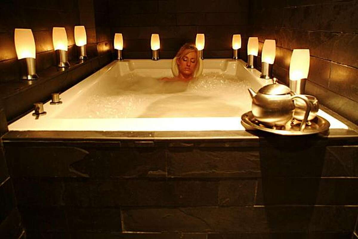 Bathouse spa offers several relaxing soaks.