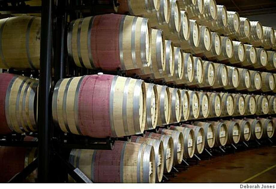 Winery storage at BV Photo: Deborah Jones