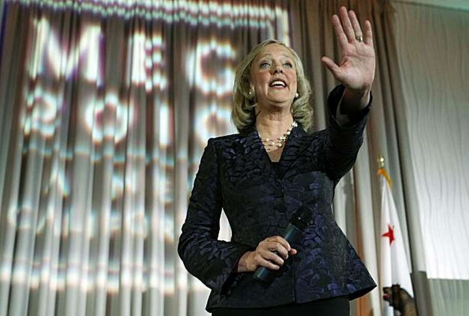 Meg Whitman, who is running for Calif. Governor, campaigns  at a fund raising dinner in Redwood City, Calif., Friday, April 23, 2010. Photo: Paul Sakuma, AP