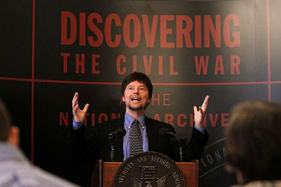 "Director Ken Burns speaks at a preview of the ""Discovering the Civil War"" exhibit at the National Archives in Washington, on Tuesday, April 27, 2010. Photo: Jacquelyn Martin, AP"