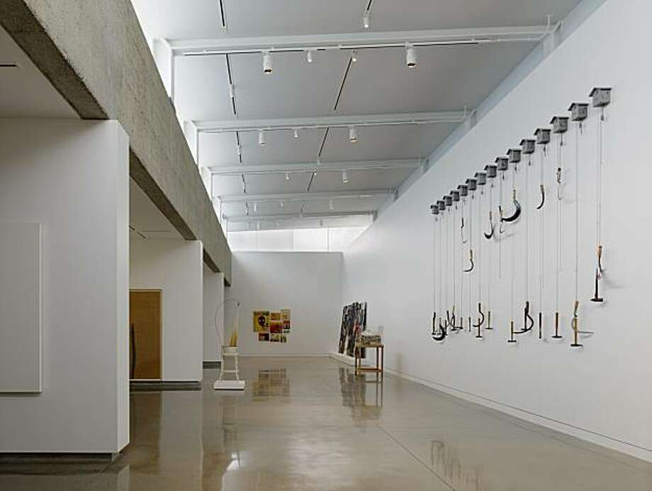 New art gallery at the Oakland Museum showing works by Paul Kos, David Ireland, Raymond Saunders and others. Photo: Tim Griffith, Oakland Museum Of California