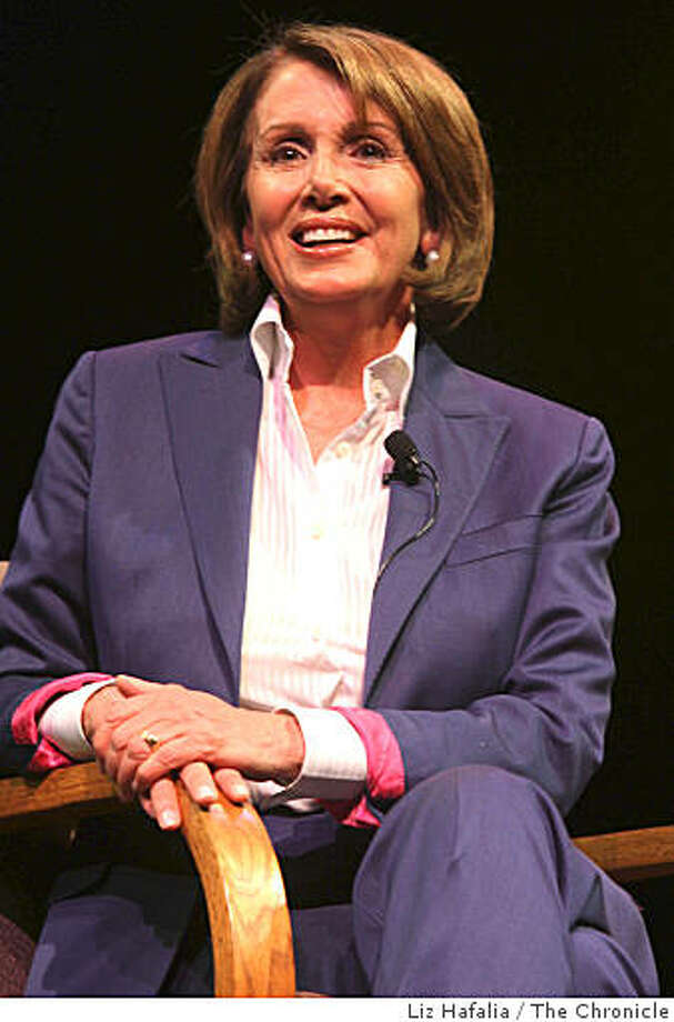 House Speaker Nancy Pelosi introduces her book at Herbst Theater in Fort Mason in San Francisco, Calif., on Thursday, August 14, 2008. Photo: Liz Hafalia, The Chronicle