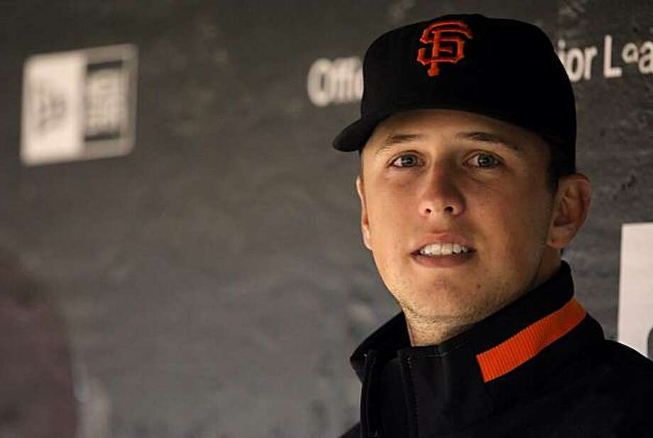 Buster Posey of the San Francisco Giants. The San Francisco Giants played the Oakland Athletics in a preseason game at AT&T Park in San Francisco, Calif., on Thursday, April 1, 2010. Photo: Carlos Avila Gonzalez, The Chronicle