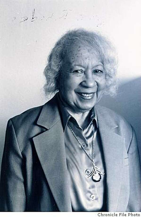 Rhodes09_01.jpg Date unknown - Obit photo of Clarice Rhodes, S.F. Schools Dean of StudentsPhotographer unknown/Chronicle File Photo Photo: Photographer Unknown, Chronicle File Photo