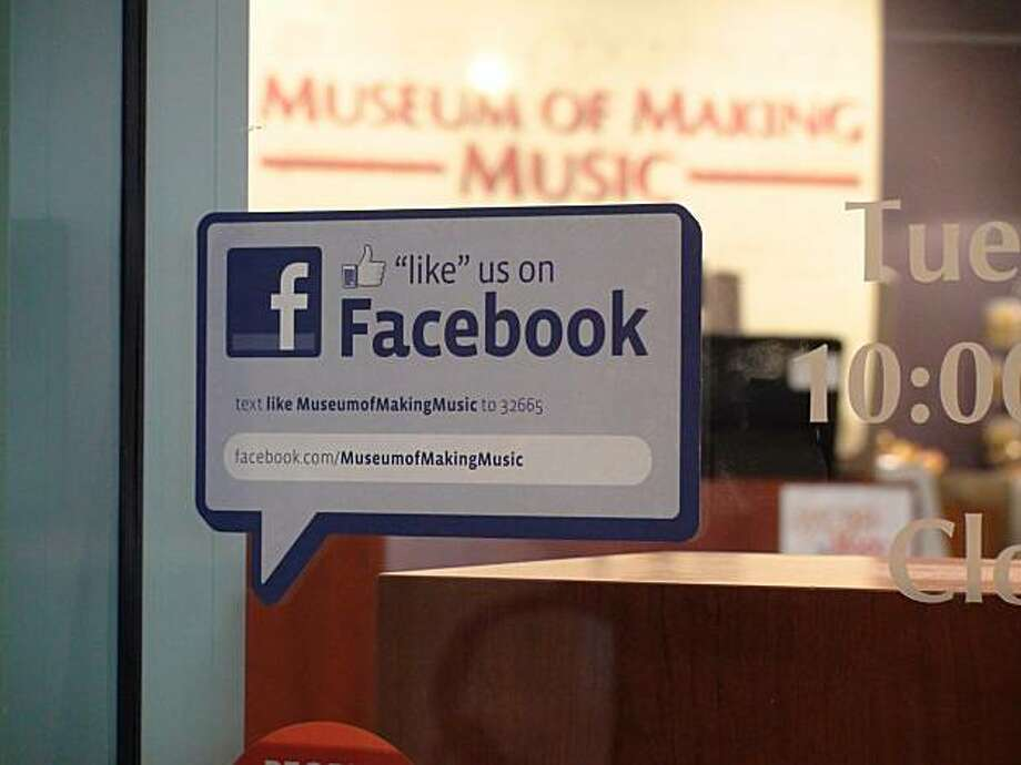 Facebook decal. Photo courtesy of B.J. Morgan/ Museum of Making Music Photo:  B.J. Morgan, Museum Of Making Music