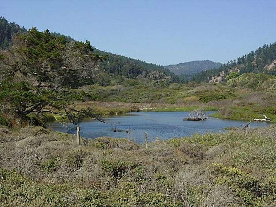 Rancho del Oso, lagoon and marsh, circa 2010 Photo: Courtesy California State Parks