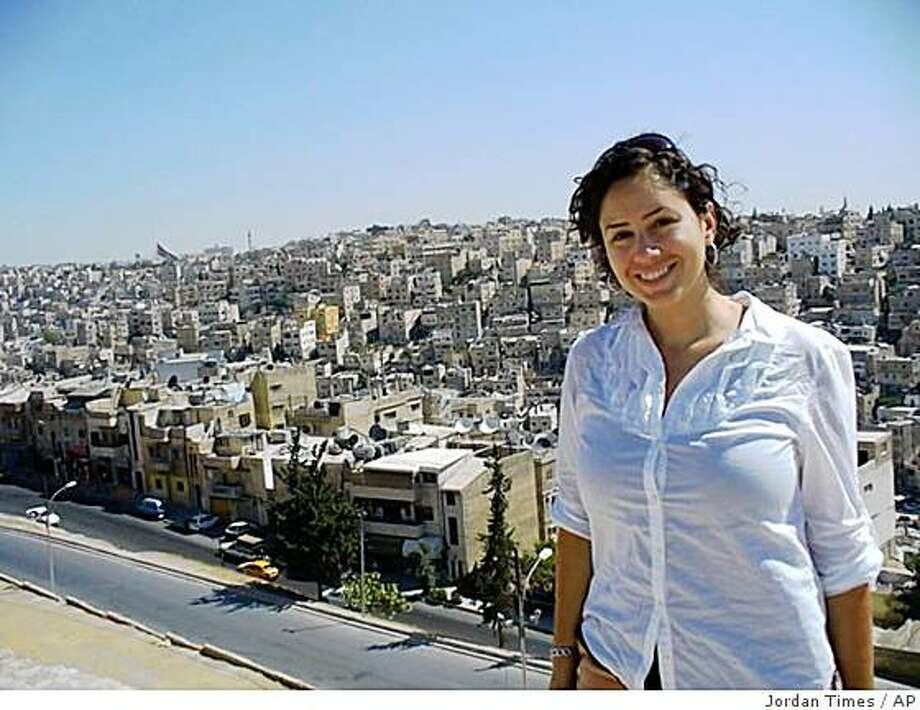 Undated photo of missing American journalist  Holli Chmela released Wednesday, Oct. 8. 2008 by the Jordan Times newspaper where she worked as a freelancer reporter, in Amman, Jordan. The U.S. Embassy in Lebanon said two Americans journalists are missing in Lebanon and is appealing for information on their whereabouts. An embassy statement Wednesday says Holli Chmela, 27, and Taylor Luck, 23, have not been heard from since Oct. 1 when they reportedly left Beirut en route to the northern port city of Tripoli. Lebanese security officials told The Associated Press they are searching for the two. The pair arrived in Lebanon on Sept. 29 from Amman, Jordan for a vacation and told a friend on Oct. 1 that they were traveling from Beirut to Tripoli that day.(AP Photo/Jordan Times/HO) **  EDITORIAL USE ONLY  ** Photo: Jordan Times, AP