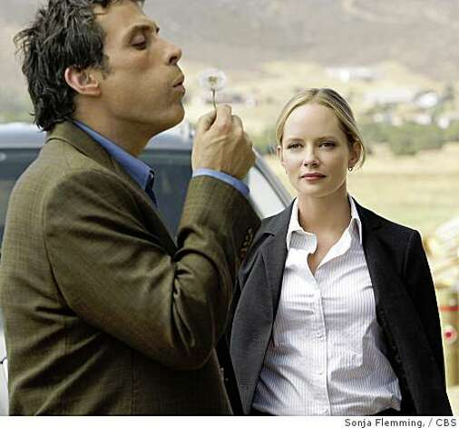 "Rufus Sewell, left, as a Special Science Adviser to the FBI, and Marley Shelton in ""Eleventh Hour,"" a new CBS series (2008). Photo: Sonja Flemming,, CBS"