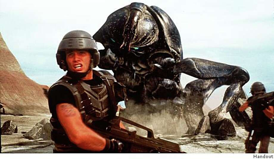 A scene from the movie Starship Troopers, with special effects by Phil Tippett. Photo: Handout