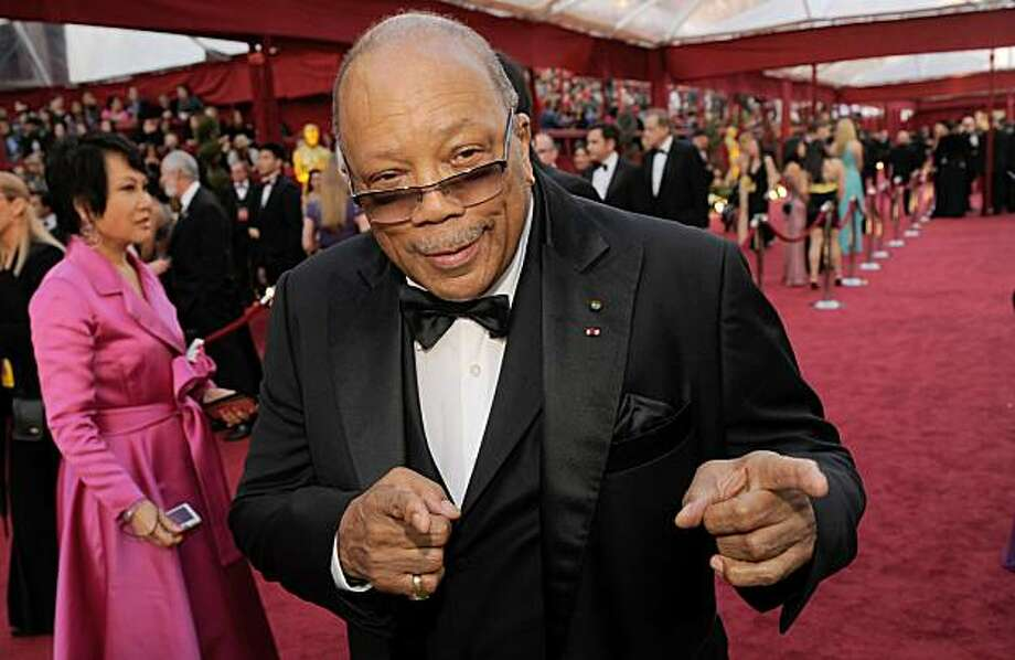 FILE - In this March 7, 2010 photo, Quincy Jones arrives at the 82nd Academy Awards in the Hollywood section of Los Angeles.   Despite his record-breaking success in music for 60 years, Quincy Jones says his proudest achievement is his seven children andsix grandchildren. Photo: Chris Pizzello, AP