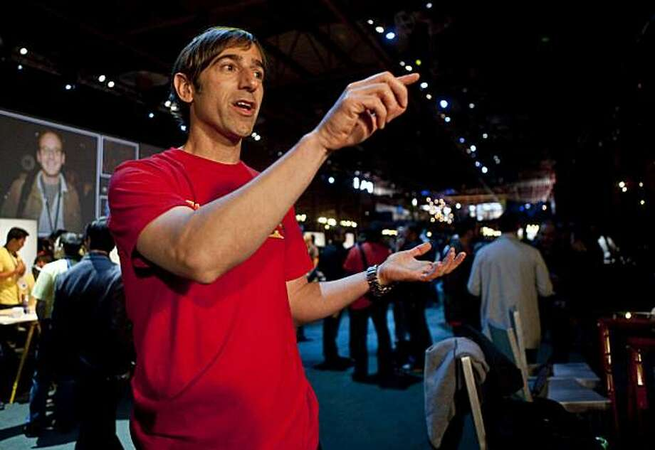 Mark Pincus, chief executive officer of Zynga Game Network Inc., speaks during an interview at the annual Facebook F8 developers conference in San Francisco, California, U.S., on Wednesday, April 21, 2010. Silicon Valley startups like Zynga and LinkedIn Corp. may limit employee sales of shares in the closely held companies. Photographer: Kim White/Bloomberg *** Local Caption *** Mark Pincus Photo: Kim White, Bloomberg