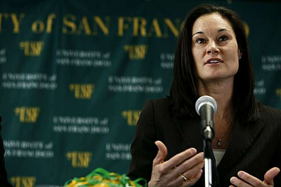 The University of San Francisco welcomes Jennifer Azzi as the new head coach of USF's women's basketball program on Friday, April 23, 2010 in San Francisco, Calif. Photo: Jessica Pons, The Chronicle