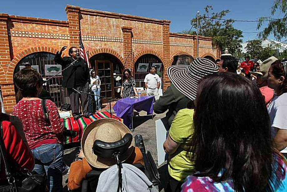 TUSCON, AZ - APRIL 24:  U.S. Rep. Raul Grijalva (D-AZ) denounces Arizona's tough new immigration law on April 24, 2010 in Tuscon, Arizona. Grijalva, who shut his Tuscon office the day before because of death threats, called for an economic boycott of Arizona because of the new law, which he called racist. Photo: John Moore, Getty Images
