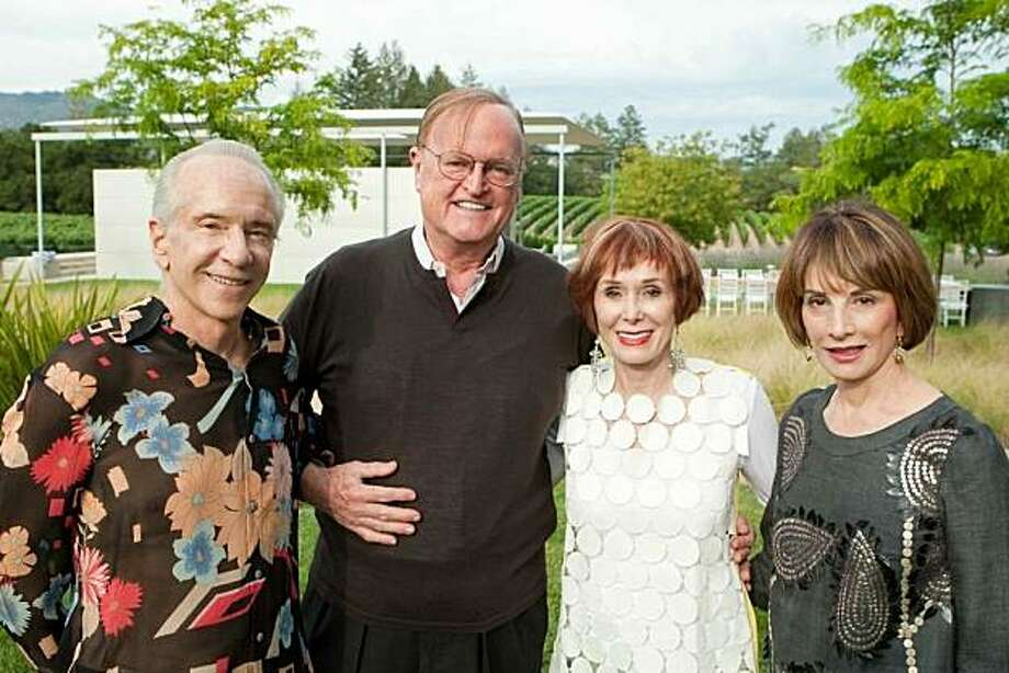 Norman and Norah Stone welcomed friends and art world notables to the opening of their new exhibition, Breaking New Ground Underground, at Stonescape in the Napa Valley. Norman Stone, Brunno Ristow, Norah Stone, Urannia Ristow Photo: Aubrie Pick, For Drew Altizer Photography