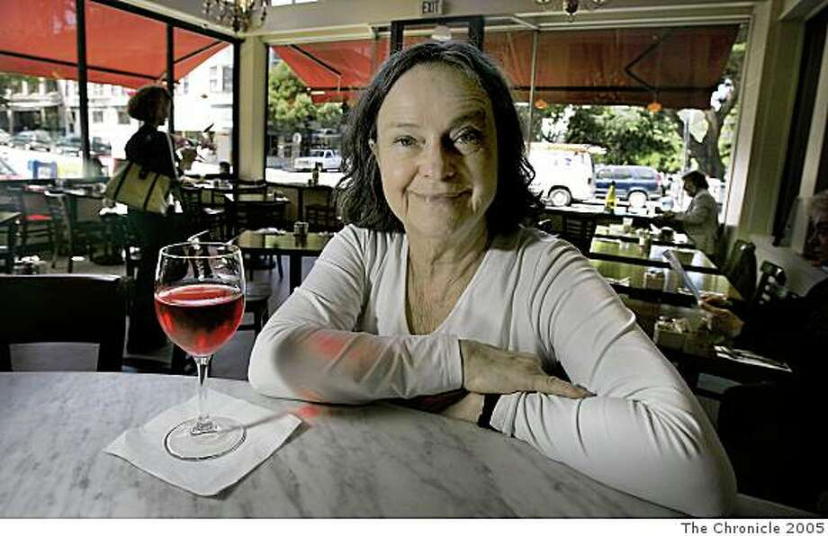 Ran on: 07-31-2005 Author Diane Johnson, who has written a book about living in Paris, sits at the Cafe Divine in North Beach. John Storey San Francisco Event on 7/6/05 Photo: John Storey, The Chronicle 2005