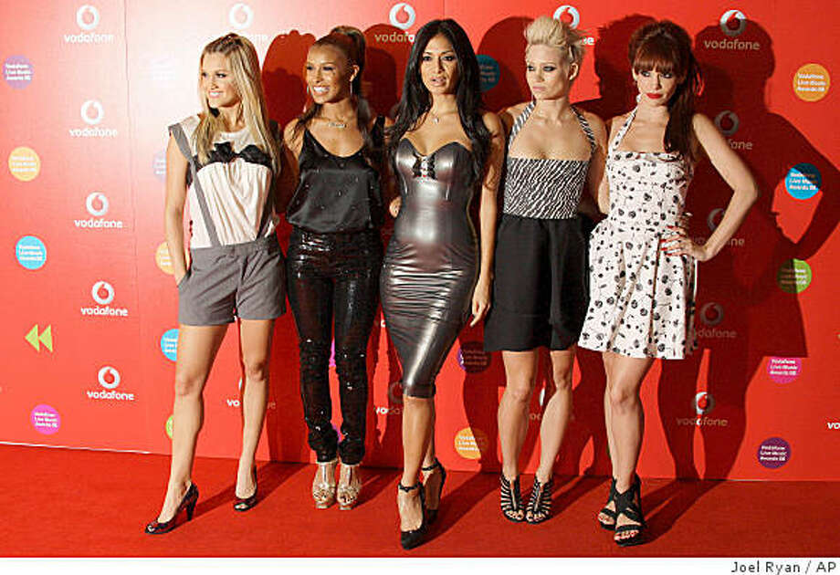 U.S. pop group The Pussycat Dolls, Ashley Roberts, Melody Thornton, Nicole Scherzinger, Kimberly Wyatt and Jessica Sutta, from left, arrive for the Vodafone Live Music Awards in central London, Thursday Sept. 18, 2008. (AP Photo/Joel Ryan Photo: Joel Ryan, AP