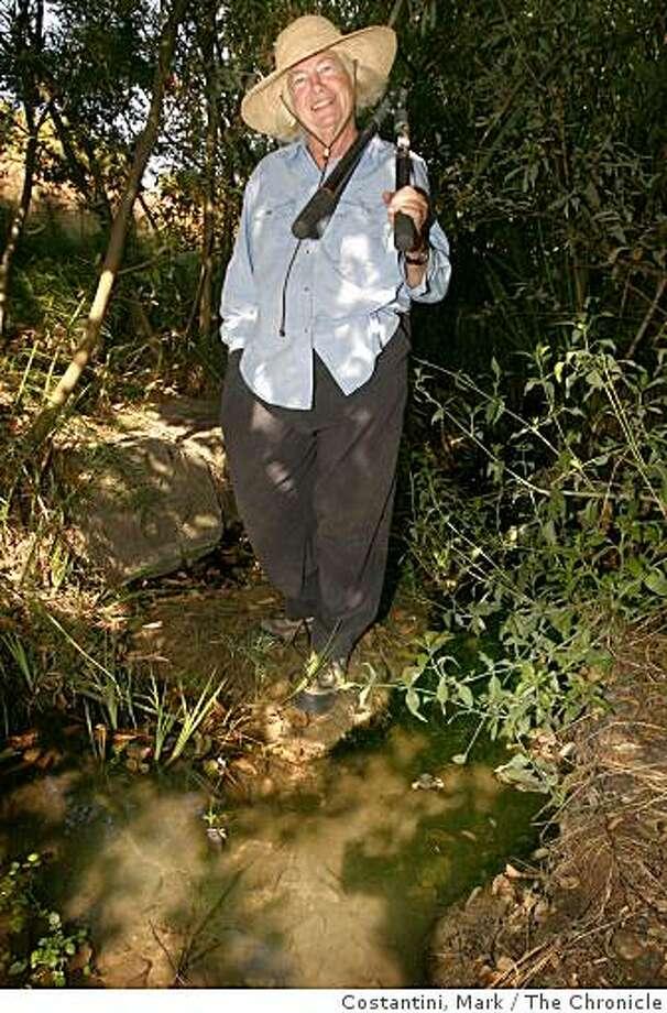 Jefferson Award Winner Susan Schwartz poses at Cerrito Creek in El Cerrito, Calif. on Thursday, September 11, 2008. Photo: Costantini, Mark, The Chronicle
