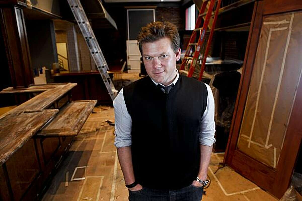 Chef Tyler Florence is seen in the Wayfare Tavern in San Francisco, Calif. on Friday, April 16, 2010. The Wayfare is one of three restaurants he's opening at once.