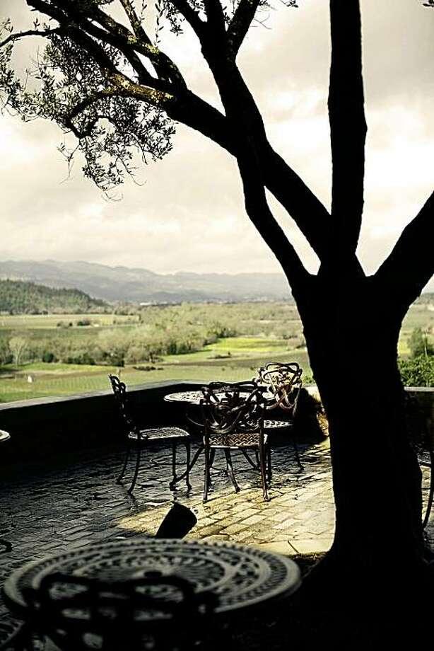 Terrace seating at Silverado Vineyards Photo: Silverado Vineyards